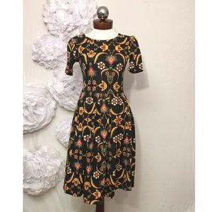 LuLaRoe Amelia Dress Floral thistle print S